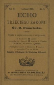 Echo Trzeciego Zakonu Św. o. Franciszka. R. 3, nr 5 (1885)