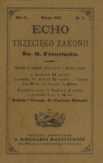 Echo Trzeciego Zakonu Św. o. Franciszka. R. 3, nr 9 (1886)