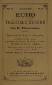 Echo Trzeciego Zakonu Św. o. Franciszka. R. 3, nr 10 (1886)