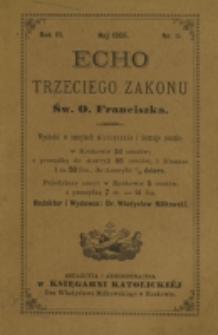 Echo Trzeciego Zakonu Św. o. Franciszka. R. 3, nr 11 (1886)