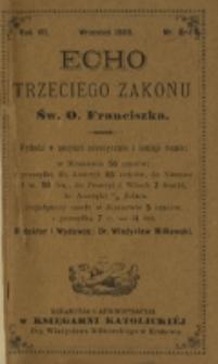 Echo Trzeciego Zakonu Św. o. Franciszka. R. 7, nr 1-12 (1889/1890)
