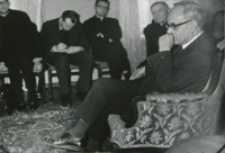 Ks. Prof. A. Rahner na KUL - 1970 r. : Podczas spotkania z teologami KUL.