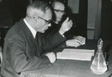 Ks. Prof. A. Rahner na KUL - 1970 r. : Ks. Rahner wygłosił w auli dwa odczyty. Tłumaczył ks. dr Nosol.