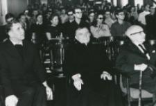 50-lecie Koła Filozoficznego Studentów KUL (1921-1971) : od lewej: o. rektor M. Krąpiec, ks. prof. Józef Pastuszka, prof. Władysław Tatarkiewicz