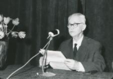 50-lecie Koła Filozoficznego Studentów KUL (1921-1971) : prof. Tadeusz Kotarbiński wygłasza odczyt
