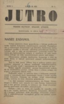 Jutro. R. 1, nr 1 (1924)