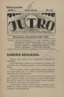 Jutro. R. 1, nr 15 (1924)