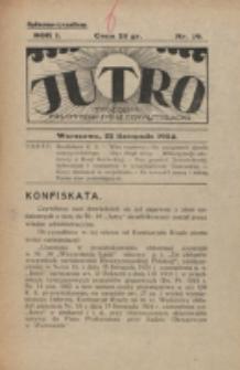 Jutro. R. 1, nr 19 (1924)