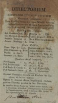 Directorium Recitandi Divinum Officium, Missamque Celebrandi juxta Rubricas Missalis Fratrum Ordinis Praedicatorum ad usum Provinciae Poloniae S. Hyacinthi pro Anno Bissextili 1836
