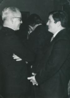 Historycy zagraniczni na KUL-u (listopad 1971) : ks. prof. P. Droulers i doc. R. Bender
