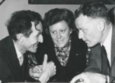 Historycy zagraniczni na KUL-u (listopad 1971) : dr hab, E. Wisniowski, prof. Laarhoven z małżonką