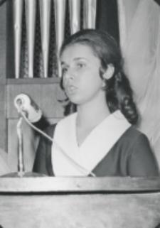 Immatrykulacja 1971/72, 25.X.71 : przemawia przedstawicielka I roku