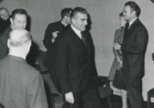 Inauguracja roku akademickiego 1971/72, 24.X : (w środku) dr S. Kaczor z Ministerstwa Oświaty i Szkolnictwa Wyższego