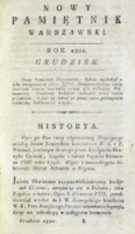Nowy Pamiętnik Warszawski : [dziennik historyczny, polityczny, tudzież nauk i umiejętności]. T. 4 (grudzień 1801)