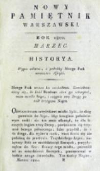 Nowy Pamiętnik Warszawski : [dziennik historyczny, polityczny, tudzież nauk i umiejętności]. T. 5 (marzec 1802)