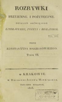 Rozrywki Przyjemne i Pożyteczne. T. 3 (1826)