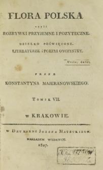 Rozrywki Przyjemne i Pożyteczne. T. 7 (1826)