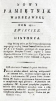 Nowy Pamiętnik Warszawski : [dziennik historyczny, polityczny, tudzież nauk i umiejętności]. T. 6 (kwiecień 1802)