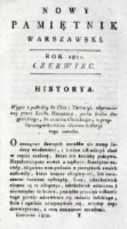 Nowy Pamiętnik Warszawski : [dziennik historyczny, polityczny, tudzież nauk i umiejętności]. T. 6 (czerwiec 1802)