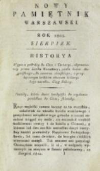 Nowy Pamiętnik Warszawski : [dziennik historyczny, polityczny, tudzież nauk i umiejętności]. T. 7 (sierpień 1802)