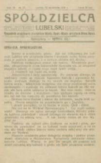 Spółdzielca Lubelski. R. 4, nr 37 (1920)