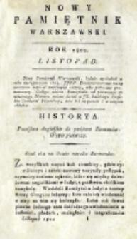 Nowy Pamiętnik Warszawski : [dziennik historyczny, polityczny, tudzież nauk i umiejętności]. T. 8 (listopad 1802)