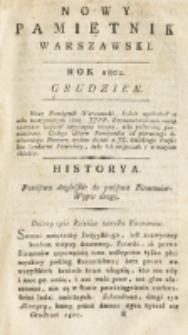 Nowy Pamiętnik Warszawski : [dziennik historyczny, polityczny, tudzież nauk i umiejętności]. T. 8 (grudzień 1802)