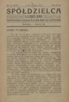Spółdzielca Lubelski. R. 3, nr 29 (1919)