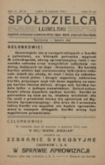 Spółdzielca Lubelski. R. 3, nr 34 (1919)