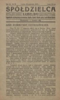 Spółdzielca Lubelski. R. 3, nr 38 (1919)