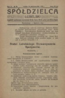 Spółdzielca Lubelski. R. 3, nr 43 (1919)