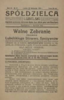 Spółdzielca Lubelski. R. 3, nr 47 (1919)