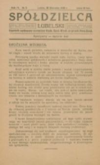 Spółdzielca Lubelski. R. 4, nr 5 (1920)