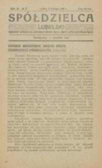 Spółdzielca Lubelski. R. 4, nr 6 (1920)