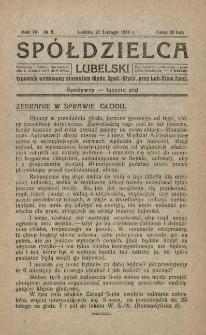 Spółdzielca Lubelski. R. 4, nr 8 (1920)