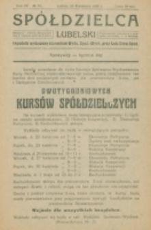 Spółdzielca Lubelski. R. 4, nr 16 (1920)