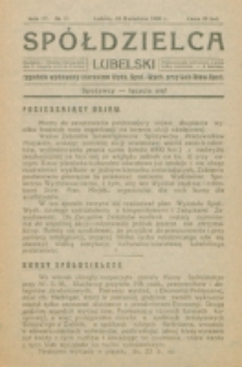 Spółdzielca Lubelski. R. 4, nr 17 (1920)
