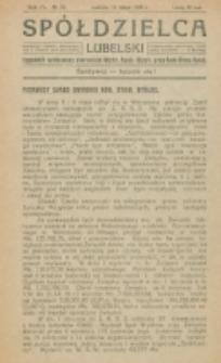 Spółdzielca Lubelski. R. 4, nr 20 (1920)