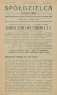 Spółdzielca Lubelski. R. 4, nr 21 (1920)