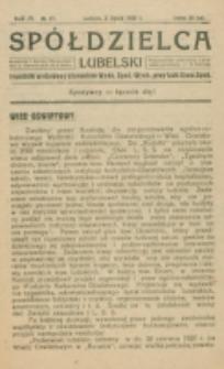 Spółdzielca Lubelski. R. 4, nr 27 (1920)