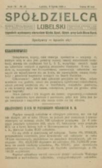 Spółdzielca Lubelski. R. 4, nr 28 (1920)