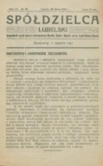 Spółdzielca Lubelski. R. 4, nr 29 (1920)