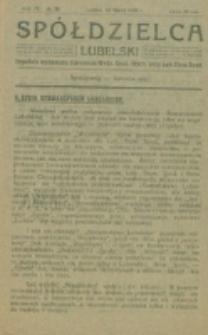 Spółdzielca Lubelski. R. 4, nr 30 (1920)