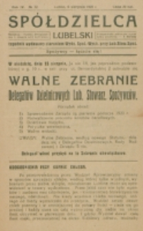Spółdzielca Lubelski. R. 4, nr 32 (1920)