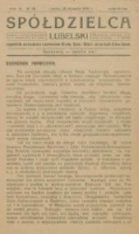 Spółdzielca Lubelski. R. 4, nr 34 (1920)