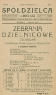 Spółdzielca Lubelski. R. 5, nr 8 (1921)