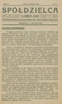 Spółdzielca Lubelski. R. 5, nr 9 (1921)