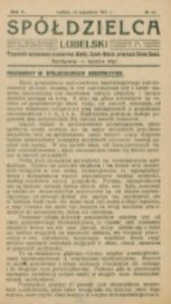 Spółdzielca Lubelski. R. 5, nr 16 (1921)