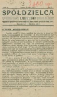 Spółdzielca Lubelski. R. 5, nr 19 (1921)