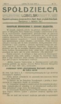 Spółdzielca Lubelski. R. 5, nr 22 (1921)